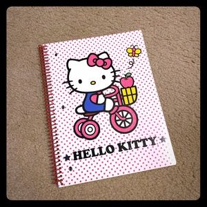 TWO Hello kitty 10.5x8 notebooks wide ruled